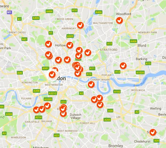 Best London Map.Kerb S Fried Chicken Taste Map Kerb The Best Of London Street Food
